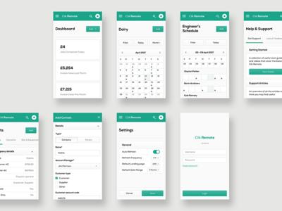 Clik Remote - Mobile Designs