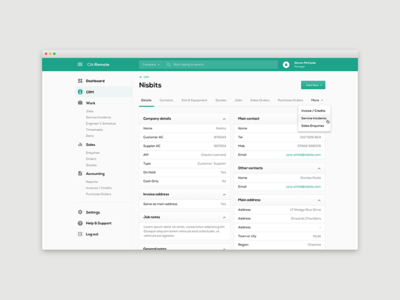 Clik Remote  - CRM crm art direction user experience dashboard user interface ui design app design web app website application