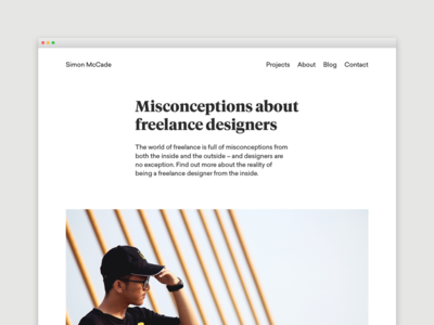 Blog - Misconceptions about freelance designers freelancing designer freelance design portfolio blogging blog creative