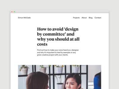 Blog - How to avoid 'design by committee' advice creative blogging blog portoflio design freelance designer freelancing