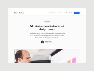 Blog - Why startups cannot afford to cut design corners insights advice creative consultant blog post blog graphic design startups branding ux website design design