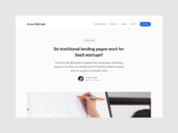Do traditional landing pages work for saas startups