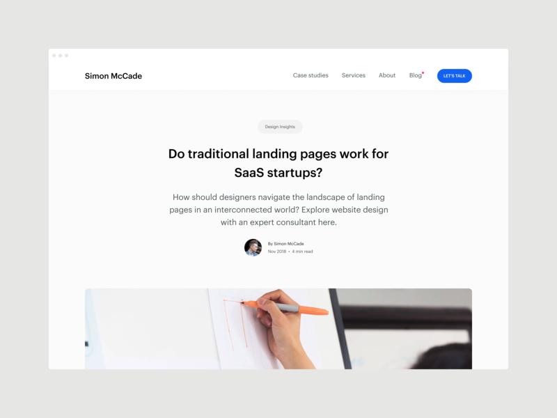 Blog - Do traditional landing pages work for SaaS startups? blog blog post conversions landing pages website design web design saas startup