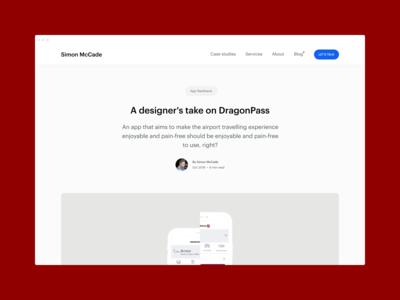 Blog - A designer's take on DragonPass