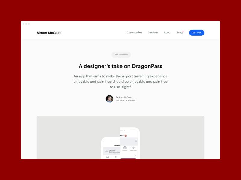 Blog - A designer's take on DragonPass startups uidesign ux ui graphic design blog post blog consultant creative insights review app teardown app design
