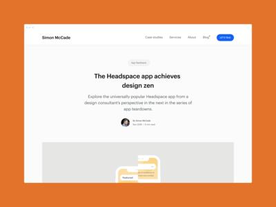 Blog - The Headspace app achieves design zen