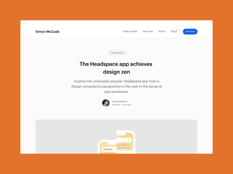 Blog - The Headspace app achieves design zen app app designer app design review insights creative blog blog post consultant ux startups uidesign ui