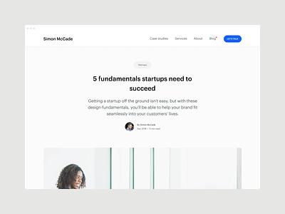 Blog - 5 fundamentals startups need to succeed blog post saas advice blog user experience problem solving design startups