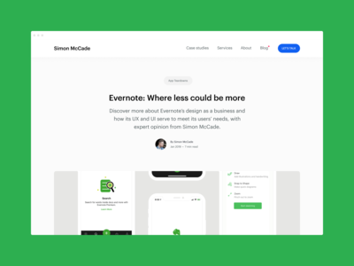 Blog - Evernote: Where less could be more