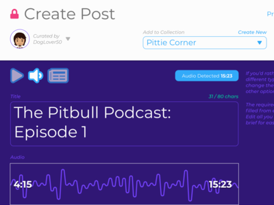 Create Audio Post