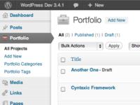 WordPress Portfolio Icon