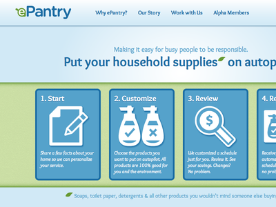 ePantry Landing eco sundries automation