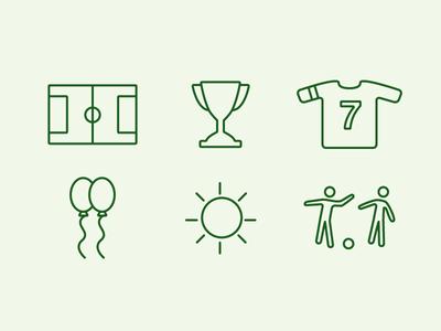 Soccer Icons outline illustration webdesign icons sport soccer