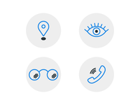 Eye Clinic Icons
