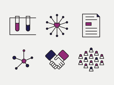 Informative Icons outline purple webdesign icons health
