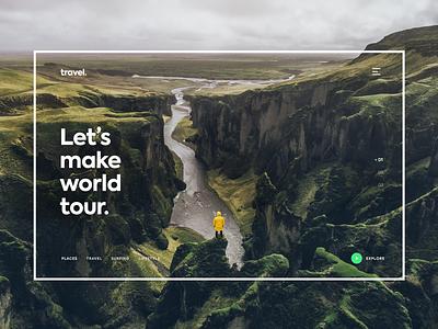 Traveling Website Design website designing modern ui traveling
