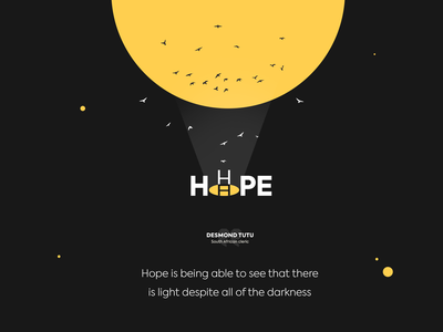 Message of Hope hope logodesign quote design dribbble best shot