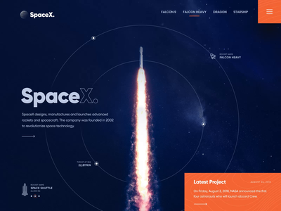 SpaceX Website Design spaceship animation planets website sifi mars space website concept dribbble best shot modern ui rocket animated website motion graphic web design website design spacex
