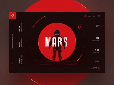 Mars Mission future rocket spacedchallenge spaced astronaut nasa planet web design animated website webdesign website concept clean ui dribbble best shot website design modern ui