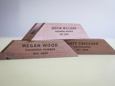 Award Bases for RVA Performance wood award signmaking signage logo illustration designer richmond cut kugo rva engrave laser design