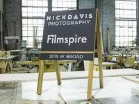 Nick Davis / Filmspire Sidewalk Sign