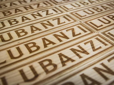 Lubanzi Taps beer typography wood product illustration signmaking signage logo designer richmond cut kugo rva engrave laser design