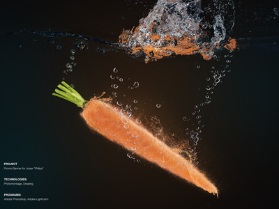 1.1 carrot drawing photomontage