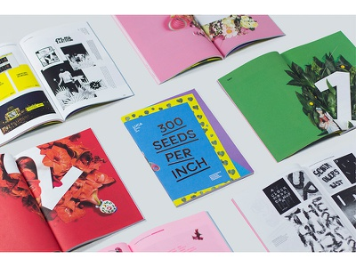 Magazine: 300 Seeds per Inch flourish gesture blooming 3 2 1 flowers graphic design lay-out magazine