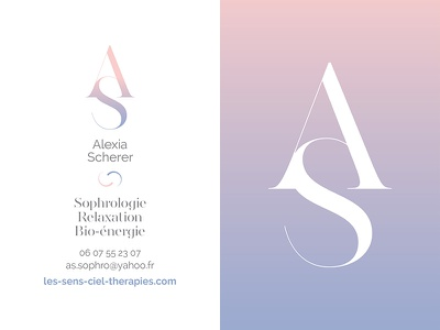 Visual identity for sophrology print work artistic direction business card graphic design visual identity typography