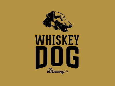 Whiskey Dog Brewing Co Logo  logo branding craft beer