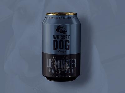 Whiskey Dog Brewing Pale Ale Can packaging brew beer branding craft beer