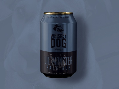Whiskey Dog Brewing Pale Ale Can packaging brew beer branding craft beer