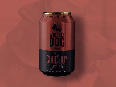 Whiskey Dog Brewing IPA Can packaging brew beer branding craft beer