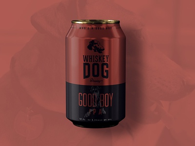 Whiskey Dog Brewing IPA Can packaging brew beer branding craft beer