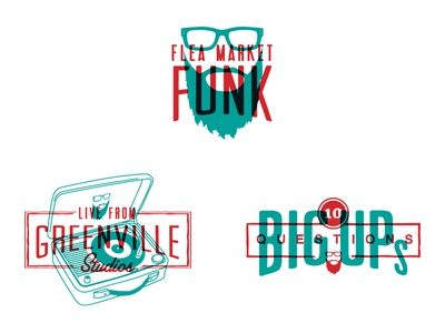 Flea Market Funk Alt Logo and Sub-brands typography icons logos