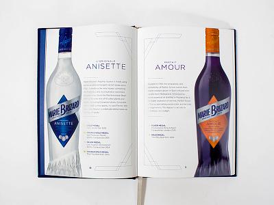 Marie Brizard Book Design print design cocktail book book design