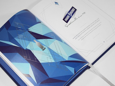 Marie Brizard Book Design promotional item print design cocktail book design foil pressed page layout book design