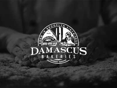 Damascus Bakeries Logo typography rebanding branding logo design logo