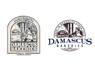 Damascus Bakeries Logo typography rebranding branding logo design logo