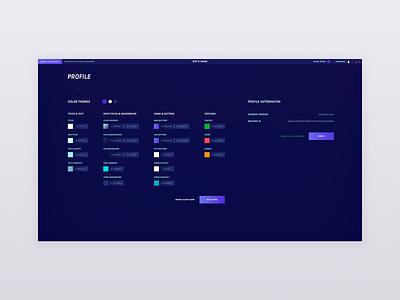 Colors 2d gradient dark blue app webapp material colorful web ux website ui design clean