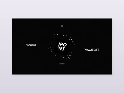 Web Studio Concept vector 3d gif webapp dark website web design 2d clean ux ui