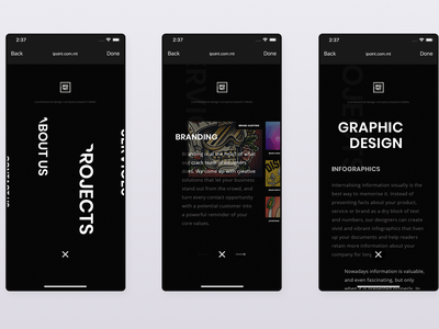 Web Studio Mobile Concept website animation 3d app gif dark webapp web design 2d clean ux ui