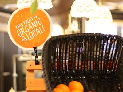 Organic Fruit Display