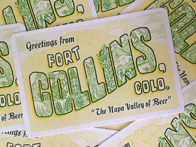 Fort Collins Postcard