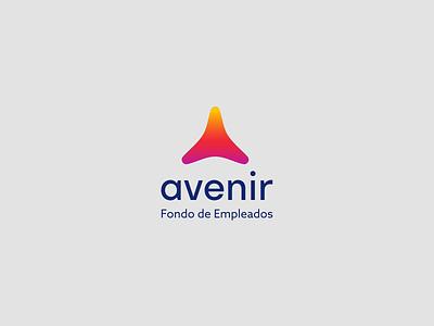 Avenir Logotype brand gradient color triangle future gradient type identity logo logotype