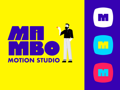 Mambo Studio Logo tv wordmark lettering mobile motion logodesign design brand illustration branding type identity logotype logo