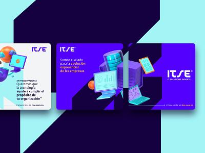 ITSE brand identity brand identity identity instagram template instagram post instagram post facebook post logotype branding design branding