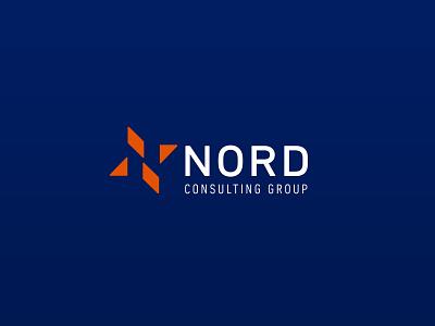 Nord Consulting Group design brand deepblue orange blue identity logo logotype star
