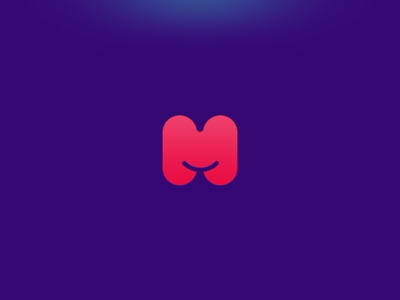 Muebla minimal rounded smile furniture logotype logo m
