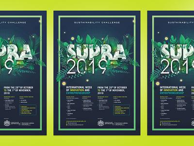 Supra2019 Poster green lubalin identity poster